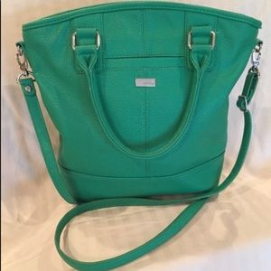 Thirty-One Kelly green bag with crossbody strap